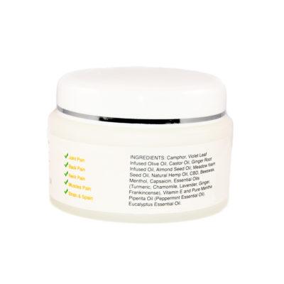 cbd cream ingredient label